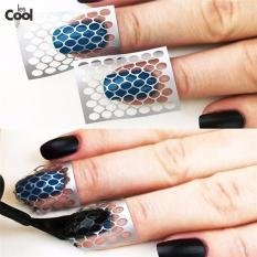 Set 10 Tấm giấy dán lưới DIY tạo mẫu trang trí nail (hollow sticker)