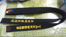 Đai Đen Taekwondo 1 Vòng Đặc Biệt