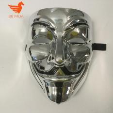 mặt na hacker halloween Anonymous màu Bạc MẶT NẠ COSPLAY