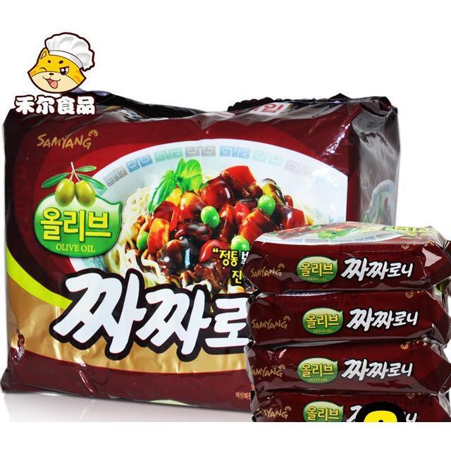 Lốc 5 gói Mì trộn tương đen Samyang Hàn Quốc