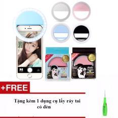 Đèn selfie Ring light 3 chế độ sáng cho điện thoại Tặng kèm 1 dụng cụ lấy ráy tai có đèn
