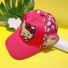 Nón kết mèo Kitty che miệng kim tuyến màu hồng đậm – NKT3403219