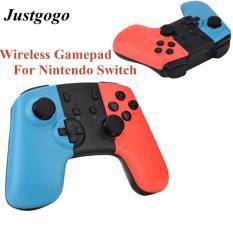 Justgogo Bluetooth không dây Người điều khiển trò chơi Gamepad Cần điều khiển cho NTD Switch Console