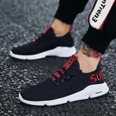 Giày sneaker nam DODACO DDC3222 giày thể thao nam thời trang style hàn quốc chất liệu siêu nhẹ vải khử mùi thoáng khí hàng hot trends giá rẻ mẫu mới nhất 2018 màu Trắng Vàng Đỏ