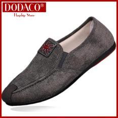 Giày lười nam DODACO LVS0002 COANH giày mọi nam thời trang style hàn quốc chất liệu siêu nhẹ vải khử mùi thoáng khí hàng hot trends giá rẻ mẫu mới nhất 2018 màu Xám Nâu Xanh