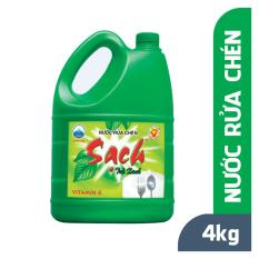Nước rửa chén NET Sạch Trà Xanh can 4kg [ NETCO – NRC VN 01 ]