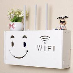 }Kệ wifi, hộp đựng wifi tiện lợi hình mặt cười lớn
