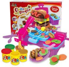 Bộ đồ chơi đất nặn (đất sét) có lò nướng BBQ kèm 5 hũ màu cho bé (8818B)