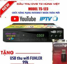 Đầu thu kỹ thuật số TS123 internet xem youtube (Tặng kèm USB thu wifi)
