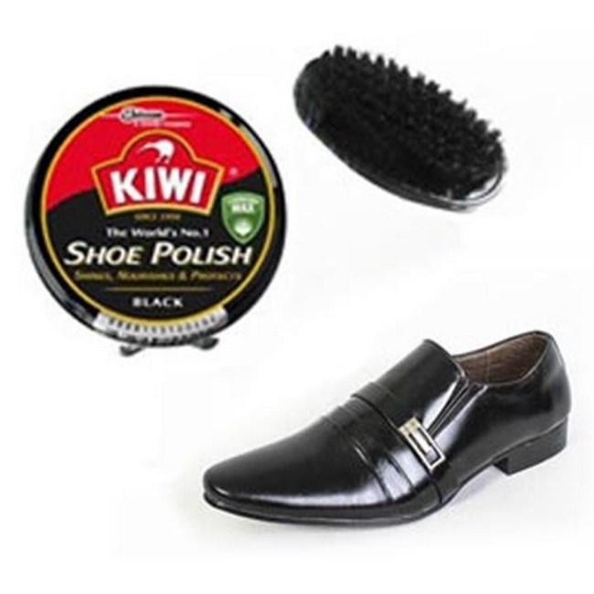 Hộp Xi Đánh Giày Kiwi + Bàn Chải ( Xi Nâu )- Led Shop