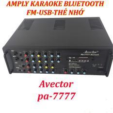 Amply karaoke bluetooth ampli karaoke gia đình Avector 7777 hát karaoke cực hay