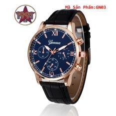 (MUA 1 TẶNG 1)Đồng hồ nam dây da Geneva cao cấp GE2207 + Tặng kèm đồng hồ điện tử kiểu dáng thể thao chạy full