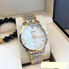 đồng hồ nam dây pha vàng ,mặt trắng,chống nước,chống xước tuyệt đối