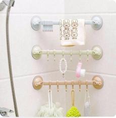 Combo 2 Thanh treo, giá treo, móc treo phòng tắm khăn, quần áo, đồ dùng nhà bếp ngang gắn tường hút chân không