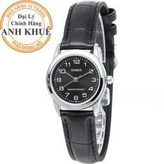 Đồng hồ nữ dây da Casio Anh Khuê LTP-V001L-1BUDF