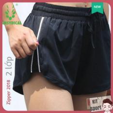 Quần short đùi thể thao nữ Zipper Vansydical – Cửa hàng phân phối KIT Sport – Hàng nội địa Trung(Women Short,đồ tập quần áo gym,mẫu ngắn, thể dục,thể hình, Yoga, Aerobic,Zumba Fitness)