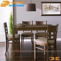 Bộ bàn ăn Ulsan màu antique 4 ghế