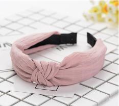 Bờm cài tóc thời trang bản to cao cấp mầu hồng (BN20-A)