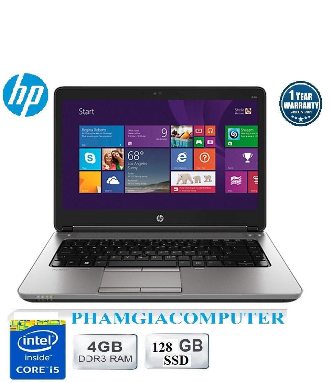 LAPTOP HP Probook 640 G1 Core i5 4300M 4G/128G SSD (Đen nhung)-Hàng nhập khẩu-Tặng Balo, chuột Wireless
