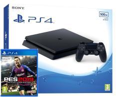 Máy chơi game Playstation 4 Slim 500GB CUH-2106A + Kèm Game PES2019 – Hãng Phân Phối Chính Thức