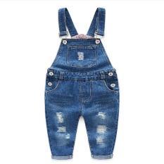 Quần yếm Jean túi trước cho bé trai và gái