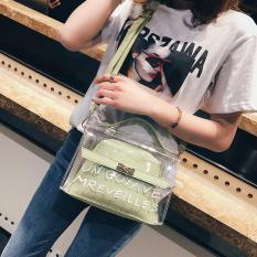 Túi xách nữ, túi đeo chéo nữ thời trang hottrend trong suốt UN GOYAVE kiểu dáng bắt mắt, trẻ trung TXN25 và Túi Taick or traet hottrend -TXN59- TUITRONGSUOT