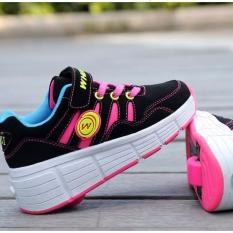 Wheel shoes bánh xe trượt HỒNG ĐEN-XANH ĐEN