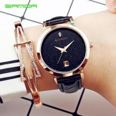 Đồng hồ nữ dây da Sanda B086 lịch ngày Analog có chống nước(Cập nhật 2019)