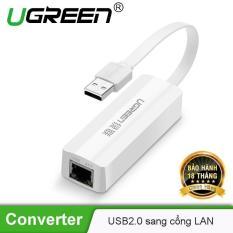 Card mạng USB 2.0 sang LAN 10/100 Lan card Dây dẹt nhỏ gọn chipset AX88772A UGREEN 20268 – Hãng phân phối chính thức