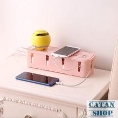 Hộp đựng ổ cắm điện nhựa, hộp dây điện an toàn cho bé có lỗ thong gió, chống điện giật trẻ em GD69-HDDN