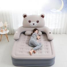 SẢN PHẨM ĐẶC BIỆT – Bộ sp Giường hơi cao cấp hình gấu cao 50cm (1m5 x 2m)
