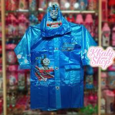 Áo mưa bóng hình Thomas xe lửa màu xanh dành cho trẻ em có nhiều size (S-M-L-XL-XXL) – 36THO6026138