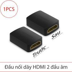 Đầu khẩu nối cáp HDMI 2 đầu âm 20Pin hỗ trợ 4K*2K-30Hz/full HD 1080P/3D UGREEN 20107 (màu đen – 1 chiếc)