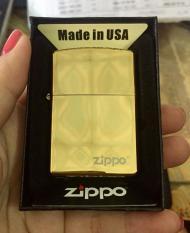 Zippo trơn màu Vàng – Zippo Mỹ – Zippo USA