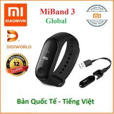 Vòng đeo tay Xiaomi MIBAND 3 – Hàng Chính hãng DiGiWorld