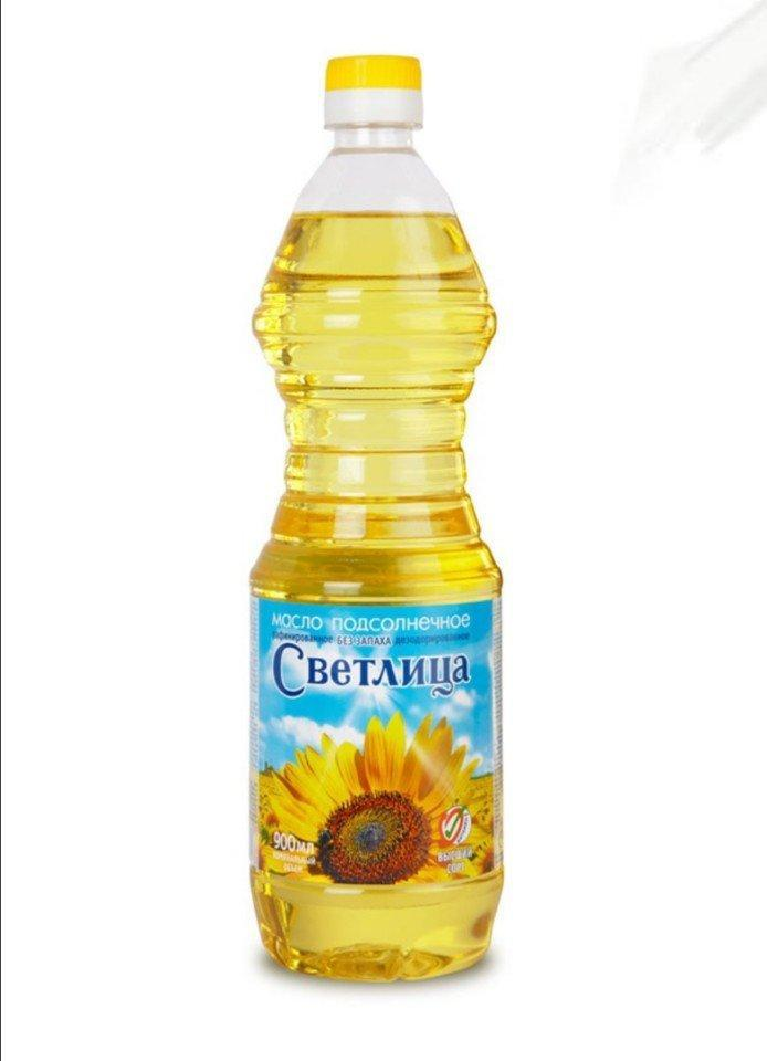 Dầu ăn hướng dương nguyên chất SVETLITSA chai 900ml (Nga)
