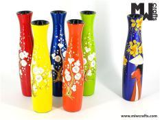 Combo 3 lọ ( bình ) cắm hoa ( + TẶNG 1 móc khóa gỗ di lạc ) MIỄN SHIP , gỗ phủ sơn mài hàng handmade