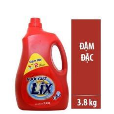 Nước Giặt Lix 3,8kg can lớn ~ 3,66Lit