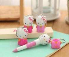 Bút bi kiềm móc khóa Kitty