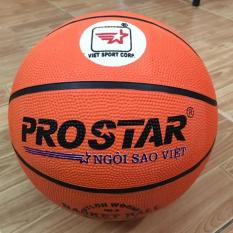 Quả bóng rổ cao su Prostar số 6 (cam) + Tặng bộ kim bơm và lưới đựng bóng