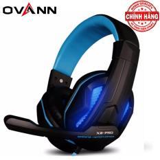 Tai nghe chuyên Game chụp tai Ovann X2 Pro đèn Led (Xanh)