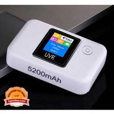 Cục siêu phát wifi từ SIM 3G 4G kiêm Pin sạc dự phòng điện thoại 5200 mAh (Có LED màu xịn, Pin trâu) – Hàng chuẩn Agiadep.com