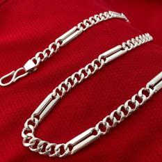 Dây chuyền nam 19.1 chỉ bạc ta cao cấp – VCNA40- trang sức Bạc QTJ, vòng cổ nam bạc dài 60cm (bạc)