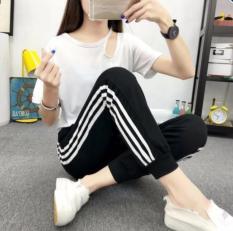 Quần Dài Nữ Thun Phom Rộng Jogger Thể Thao Thời Trang Hàn Quốc – BT Fashion (Ba Sọc 06)