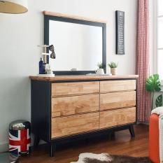 Tủ ngăn kéo 6 ngăn ngang NB-Blue gỗ tự nhiên