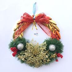 Vòng nguyệt quế bé D=25cm trang trí Giáng sinh – Noel