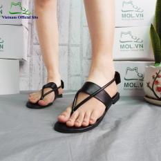 Giày sandal nữ quai chéo hiệu MOL MS190810B