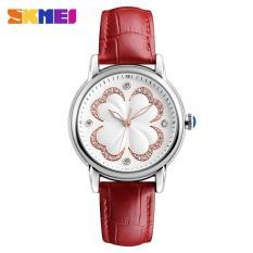 Đồng hồ nữ thời trang Skmei BA12 dây da cao cấp kiểu dáng cỏ 4 lá sang trọng