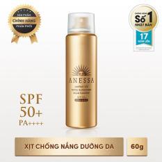 Xịt chống nắng bảo vệ hoàn hảo khô thoáng Anessa Perfect UV Sunscreen Skincare Spray – SPF50+, PA++++ – 60g