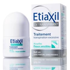 Lăn khử mùi đặc trị Etiaxil Détranspirant Aisselles Peaux Sensibles 15ml (Dành cho da hỗn hợp, da nhạy cảm)